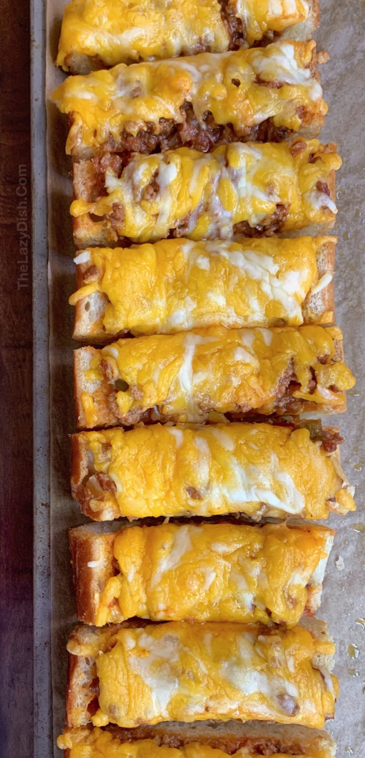 5 Ingredient Sloppy Joe French Bread Pizza