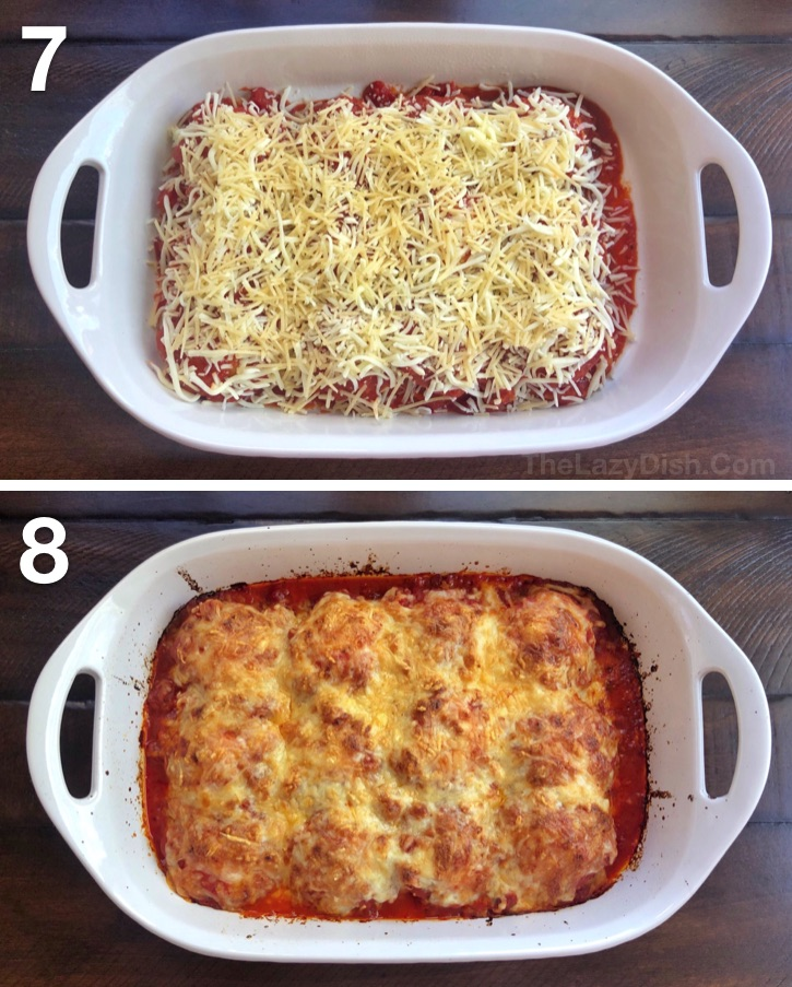 Quick, easy and cheap dinner idea for the family! Just 3 ingredients. Lazy Lasagna