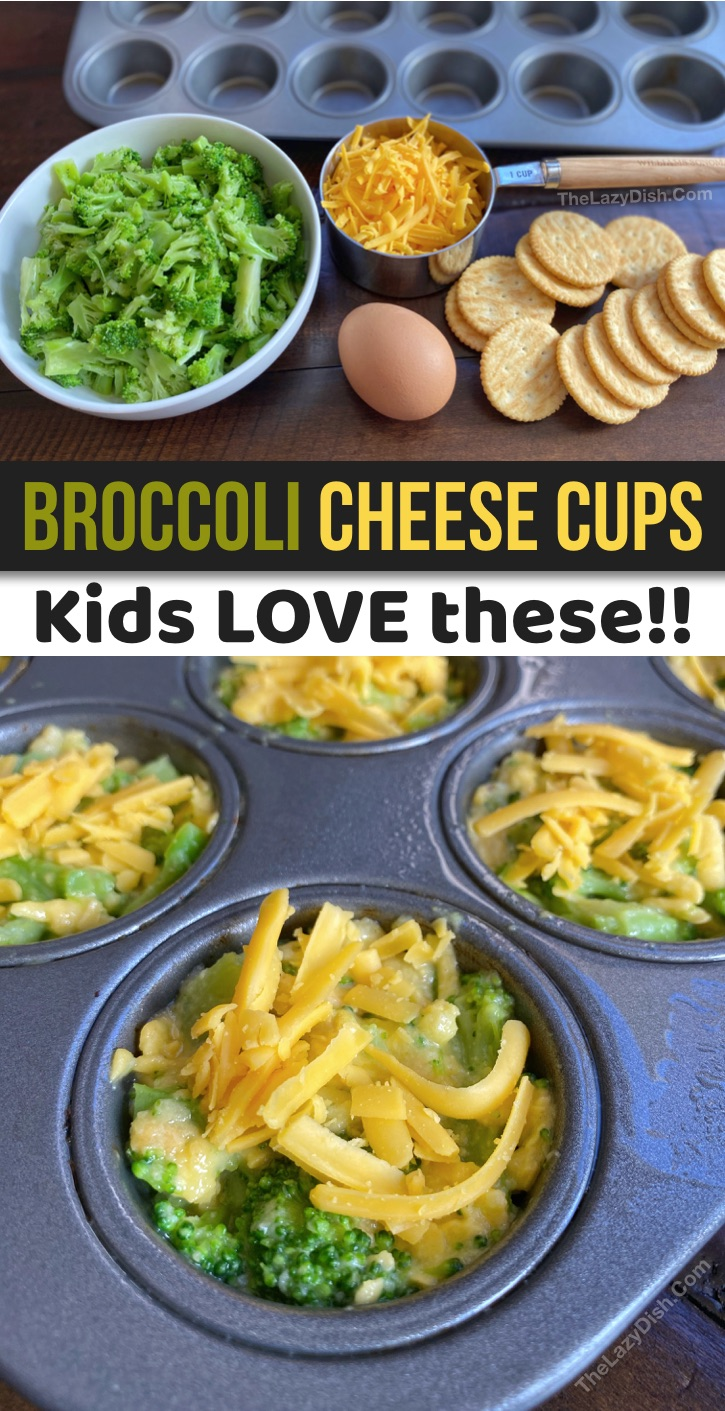 Fun, easy and healthy snack ideas for kids! Your toddlers and teenagers are going to love this quick, simple and budget friendly snack recipe! These healthy broccoli tots are made with just 4 ingredients: broccoli, cheddar cheese, crackers and an egg. Made in a mini muffin pan! A healthy after school snack idea for at home, on the go or school lunchbox recipe. #snackideas #easysnacks #healthy #instrupix