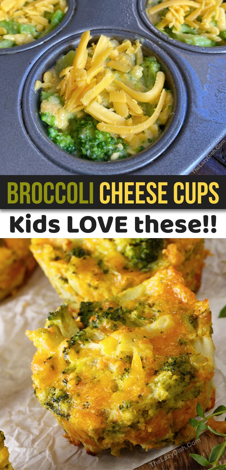 Healthy and fun kids snack ideas for on the go, at home or school! Your toddlers, preschoolers, teens and picky eaters are going to love this quick and easy snack recipe! These simple muffin tin broccoli tots are made with cheap ingredients that you probably already have: broccoli, cheddar, an egg and Ritz crackers. Clean eating snacks for kids!