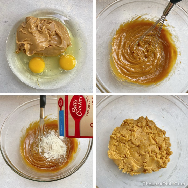 Easy Cake Mix Peanut Butter Cookies Recipe -- Quick, easy and simple to make.
