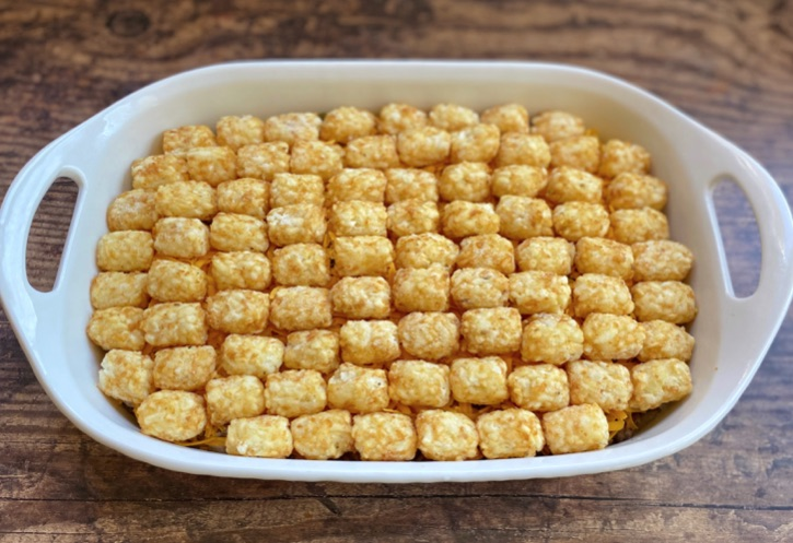 Tater Tot Casserole Recipe (Quick and easy to make with ground beef!)